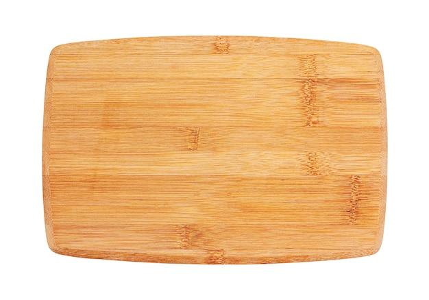 Bordo del servizio dei sushi fatto di bambù, isolato su bianco