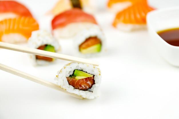 Sushi e salsa di soia