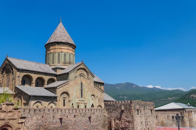 Cattedrale ortodossa di svetitskhoveli (patrimonio mondiale dell'unesco) a mtskheta, georgia