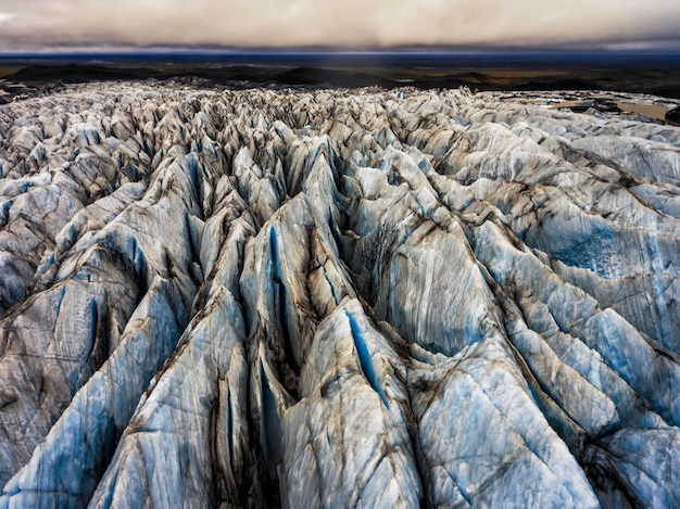 Ghiacciaio svinafellsjokull a vatnajokull, islanda.