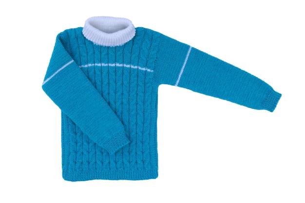 Bambini in maglia maglione isolare su superficie bianca