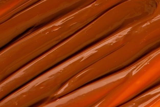 Modello di caramello dolce, vista dall'alto.