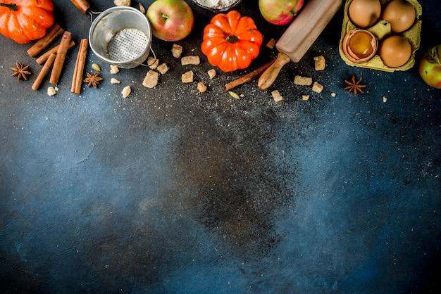 Sfondo di cottura autunno dolce