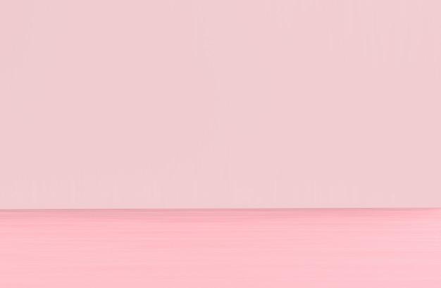 Sfondo del pavimento e del pannello in legno di colore rosa tenue dolce sfumato.