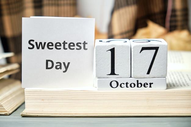 Il più dolce giorno dell'autunno mese calendario ottobre