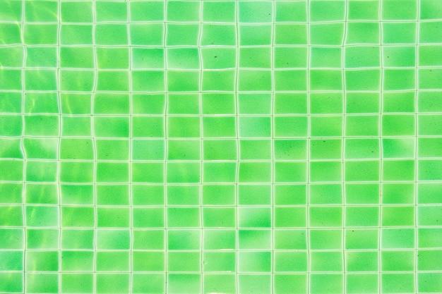 Sfondo di mosaico verde piscina