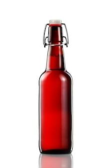 Swing top bottiglia di birra chiara con percorso di clipping isolato su sfondo bianco