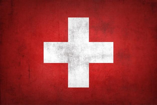 Bandiera della svizzera con struttura del grunge.