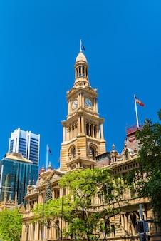 Il municipio di sydney in australia, nuovo galles del sud.