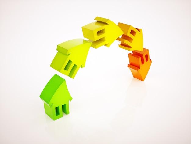 Simbolo del surriscaldamento del mercato immobiliare