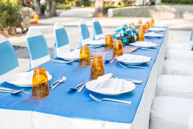 Sala da pranzo al di fuori del ristorante dell'hotel