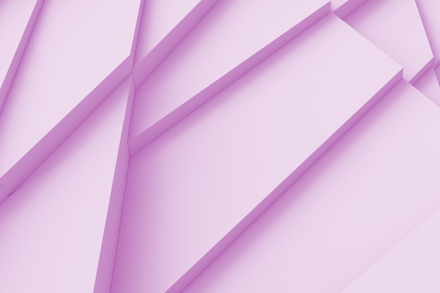 Tabella di molte forme tridimensionali incrinate ad altezze diverse l'una dall'altra e proiettano un'illustrazione 3d ombra
