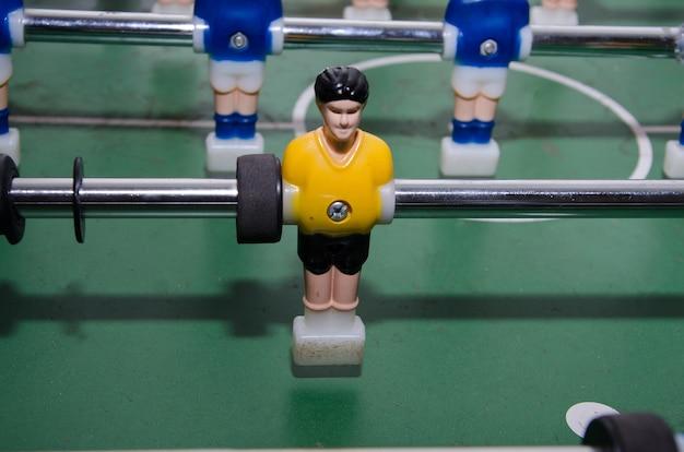 Calcio balilla toy player closeup