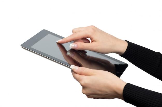 Computer tablet isolato su bianco