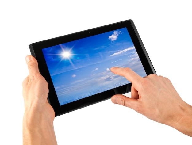 Tablet in una mano