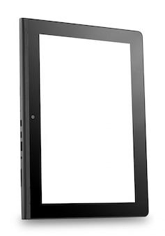Tablet pc girato in un angolo