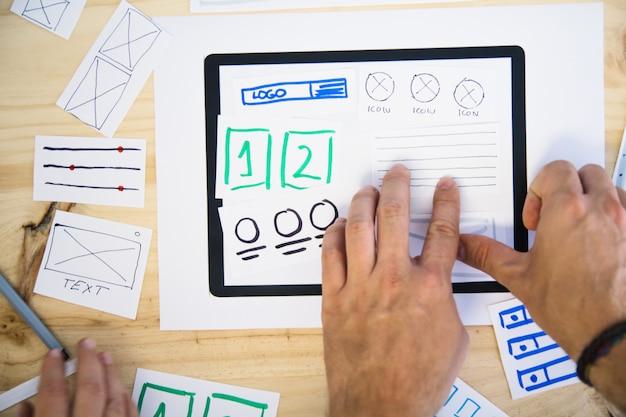 Design ux per tablet