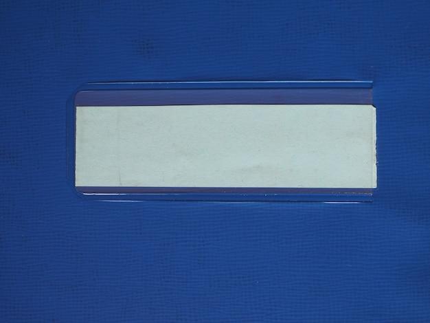 Etichetta tag sulla cartella