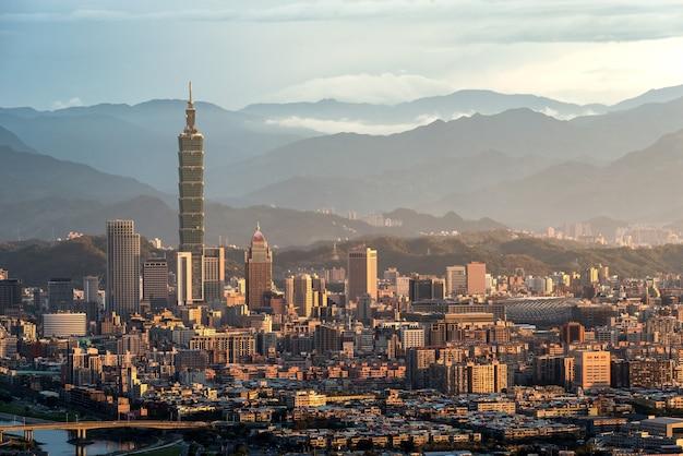 Vista della città di taipei