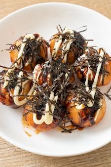 Gnocchi di polpette di takoyaki o polpette di polpo - stile giapponese