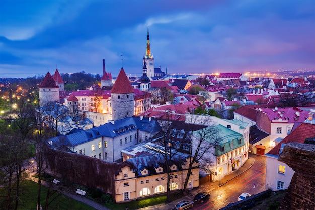 Centro storico medievale di tallinn, estonia