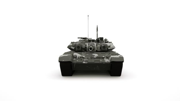 Carro armato, veicolo militare in colori mimetici.