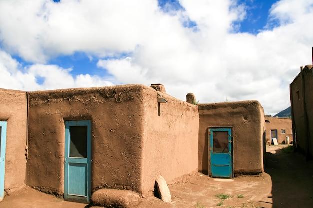 Taos pueblo nel new mexico, usa