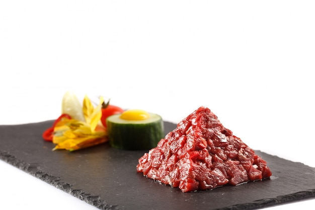 Vista di pyramida della carne del beaf del catrame di catrame