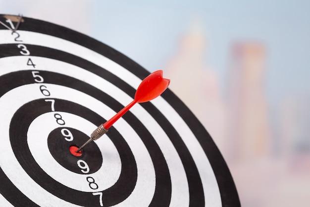 Targeting del concetto di business, freccette da vicino