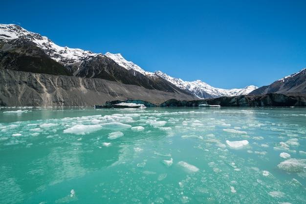 Tasman glacier, nuova zelanda