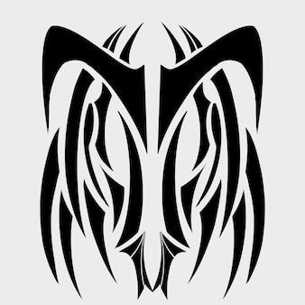 Tatuaggio tribale graphic design illustratin arte, arte astratta stile fantasy arte tribale,