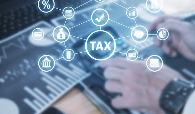 Imposta. attività commerciale. finanza. rete. tecnologia
