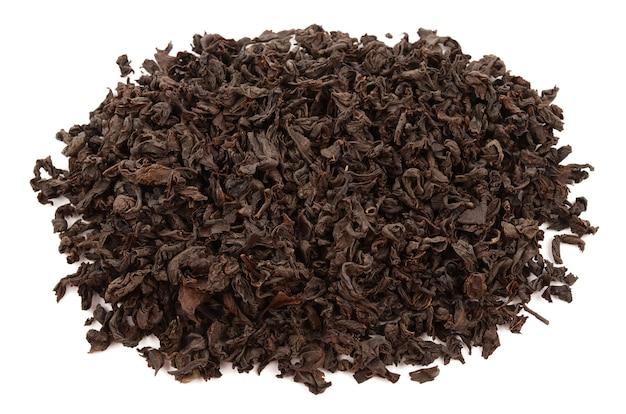 Tè su uno sfondo bianco