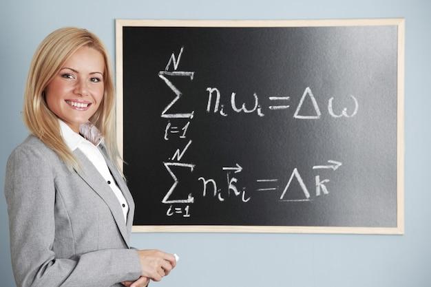 L'insegnante disegna la condizione del sincronismo di fase