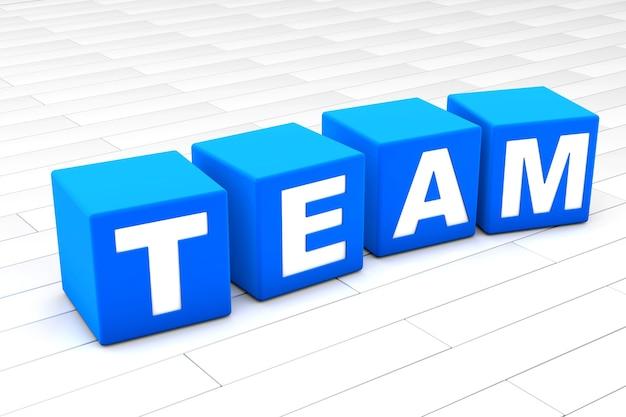 Illustrazione di parola di squadra