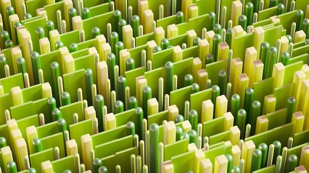 Techno high-tech, geometria, cubo, astrazione.