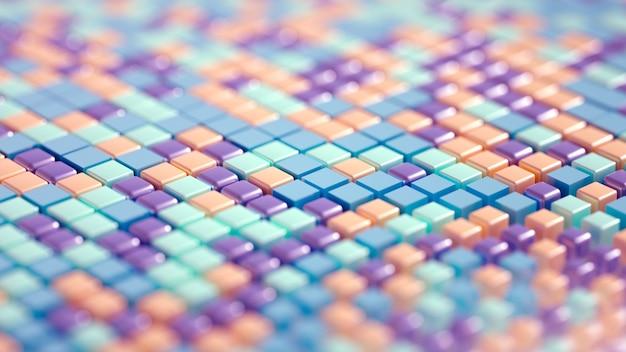 Techno hightech geometria di sfondo cubo astrazione 3d'illustrazione