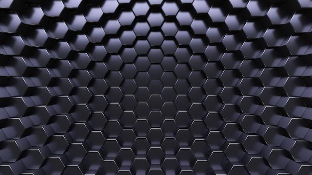 Background tecnologico. cristalli esagonali.