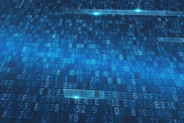 Sequenza tecnologica di numeri e lettere