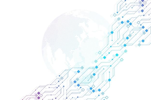 Tecnologia astratto circuito texture sfondo hightech futuristico circuito banner wallpa...