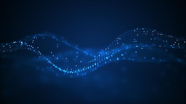 Tecnologia digitale onda sfondo.