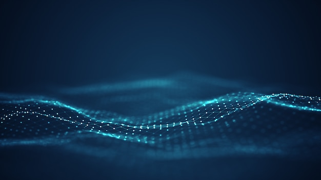 Tecnologia digitale onda sfondo