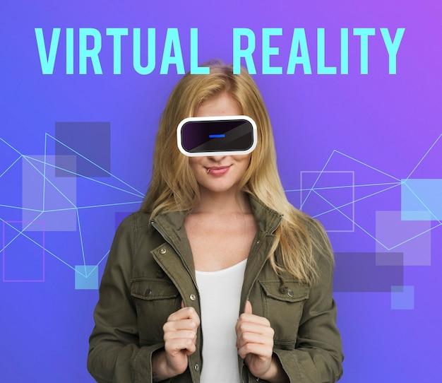 Concetto di gadget per la simulazione dell'innovazione tecnologica