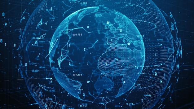 Tecnologia network data connection, dati digitali cyber security