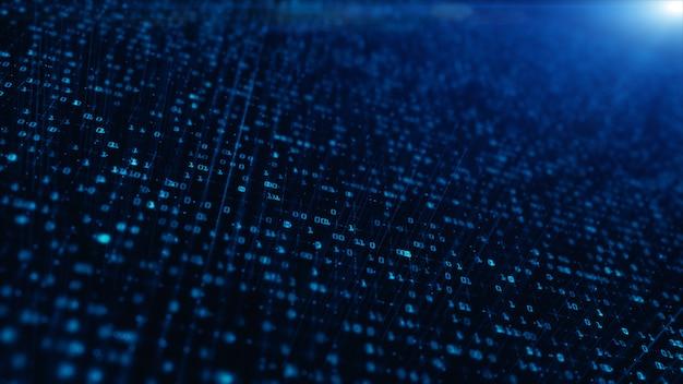 Connessione dati di rete tecnologica, rete dati digitale e concetto di sicurezza informatica