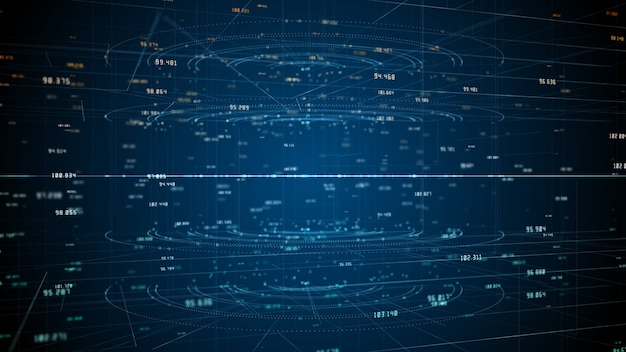 Tecnologia di connessione dati di rete, rete digitale e concetto di sicurezza informatica