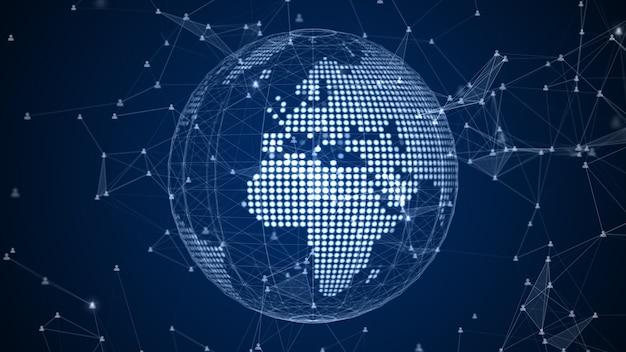Connessione dati di rete tecnologica