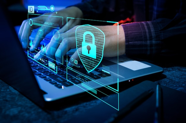 Sistema di protezione digitale di sicurezza del concetto di sicurezza tecnologica