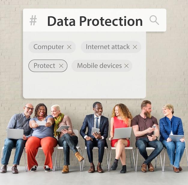 Parola grafica di sviluppo della sicurezza di rete del sistema tecnologico technology