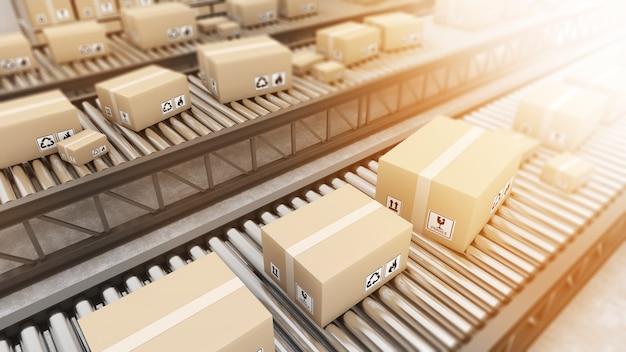 Tecnologia nei magazzini e nell'imballaggiosistemi e prodottiautotrailingsistema ferroviario in magazzino